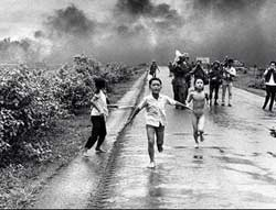 Children running from the Napalm bombing of An Loc