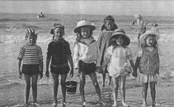 wartime kids on beach